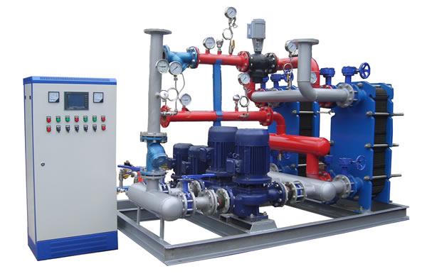 3,补水定压自动控制功能;     4,热计量自动显示保存;     5,换热站